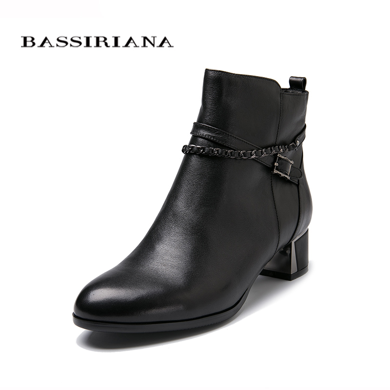 Ankle boots for women Spring 2017 Square medium heel Casual shoes woman Fashion 39-43 BIG SIZE shoes Free shipping BASSIRIANA selens pro 100x100mm 12nd square medium