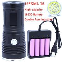 16T6 38000 Lumens LED Flash Light 16 XM L T6 LED Flashlight Torch Lamp Light For