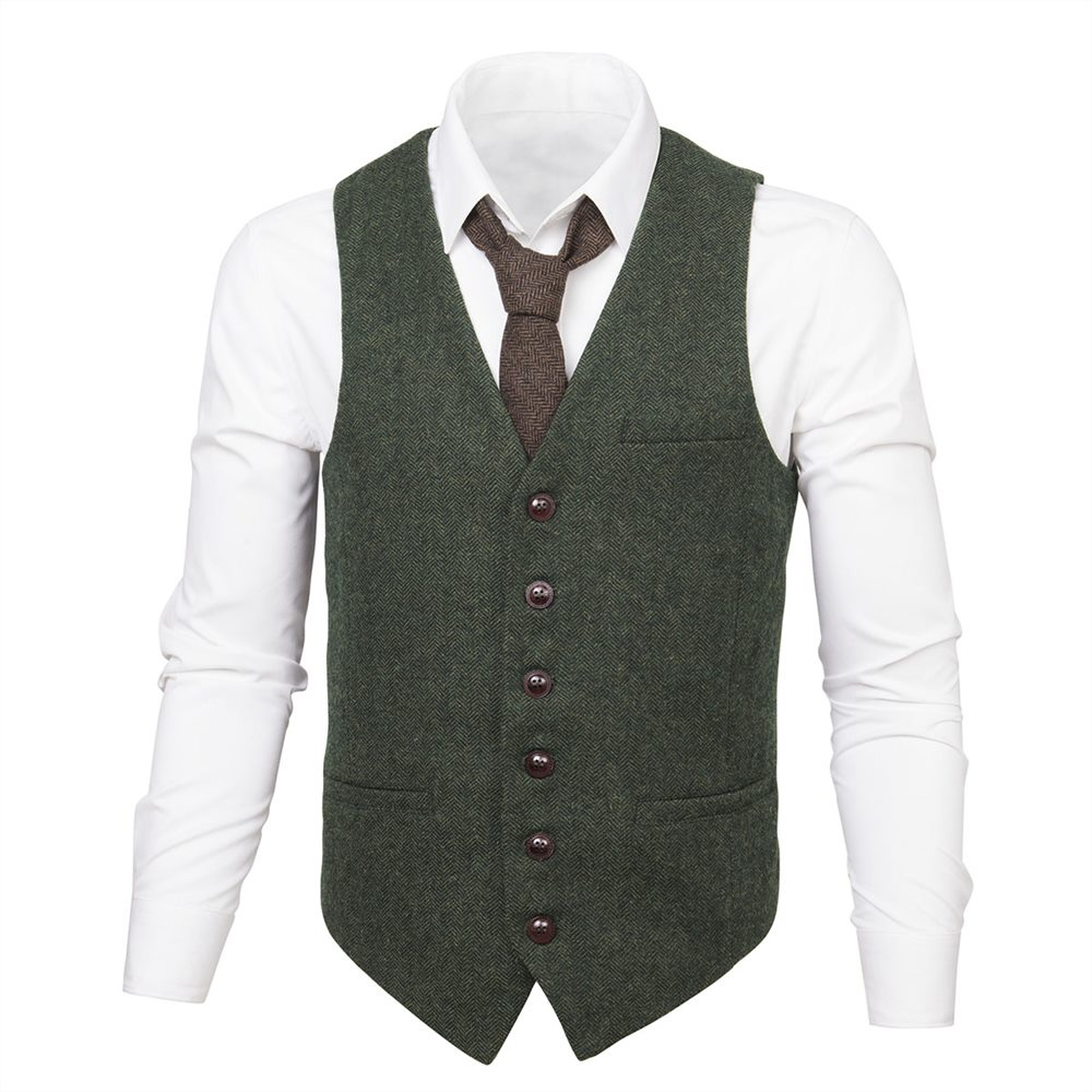 Affaires Vert Slim Costume Classique Hommes Laine Masculino De 007 Army Gilet Mâle Sans Mariage Chevrons Manche Blazer Fit Green zBqBPwrxS