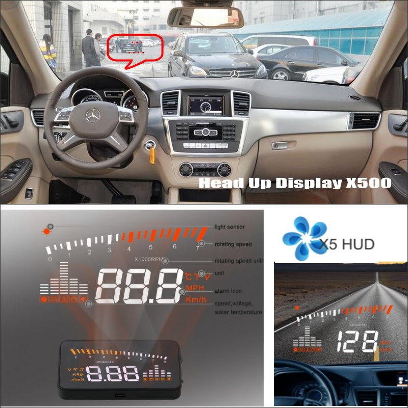 For Mercedes Benz ML M MB W164 ML350 ML330 ML63 AMG - Car HUD Head Up Display - Driving Screen Projector Refkecting Windshield car hud head up display for mercedes benz sprinter reflect to windshield car s hud head up display screen projector