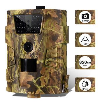 2PCS/LOT Wireless Wildlife Trail Camera 12MP Hunting Cameras Wild Surveillance HT001B Night Vision Animal Photo Traps Tracking