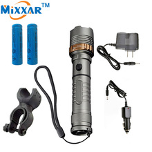 zk30 LED 4000LM Bike Bicycle Flashlight  Torch Self Defense Cree XM-L T6 Rechargeable Tacticallamp Cycling Camping Tent Light
