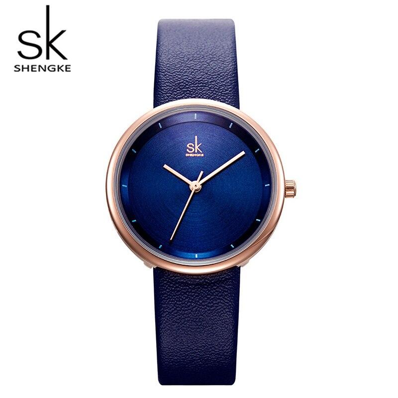 Shengke Fashion Leather Watches Women Luxury Quartz Ladies Watches Reloj Mujer 2018 SK Women Wrist Watch Christmas Gift #K8040
