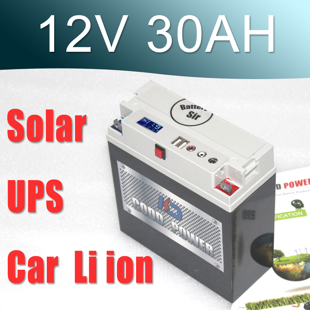 12V lithium ion solar / motorcycle battery pack 12.6V 30AH New Protection Large capacity free customs taxes super power 1000w 48v li ion battery pack with 30a bms 48v 15ah lithium battery pack for panasonic cell