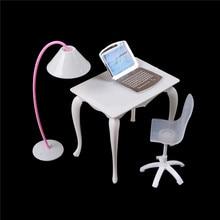 Chair Dollhouse Miniature-Doll-Furniture Pc-Table Study-Desk/computer Children Girl