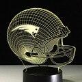 Logotipo del equipo de New England Patriots 3D Night Light Sport Cap de Noche la formación de BULBOS de la lámpara Lampe de la Ilusión Óptica de Mesa de Escritorio del LED Para Los Aficionados de LA NFL
