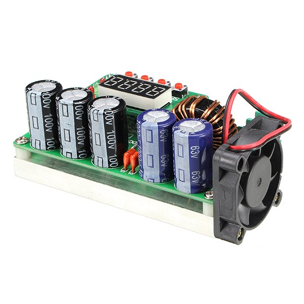 Image 4 - Hot Sale 1PC 600W Digital Control DC DC Adjustable Step Up Module Constant Voltage Current Solar Charging Module Board-in Integrated Circuits from Electronic Components & Supplies