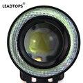2 pçs/lote Universal 2.5 de polegada 67mm 30 W COB Levou Nevoeiro Carro Lâmpada Auto luz de nevoeiro Olhos de Anjo de Luz Com Lente DC12 24 V Qualquer Carro Pode Usar BJ