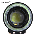 2pcs/lot  Universal 2.5 inch 67mm 30W Led COB Fog Lamp Car Auto Fog Angel Eyes Light With Lens DC12 24V Any Car Can Use BJ