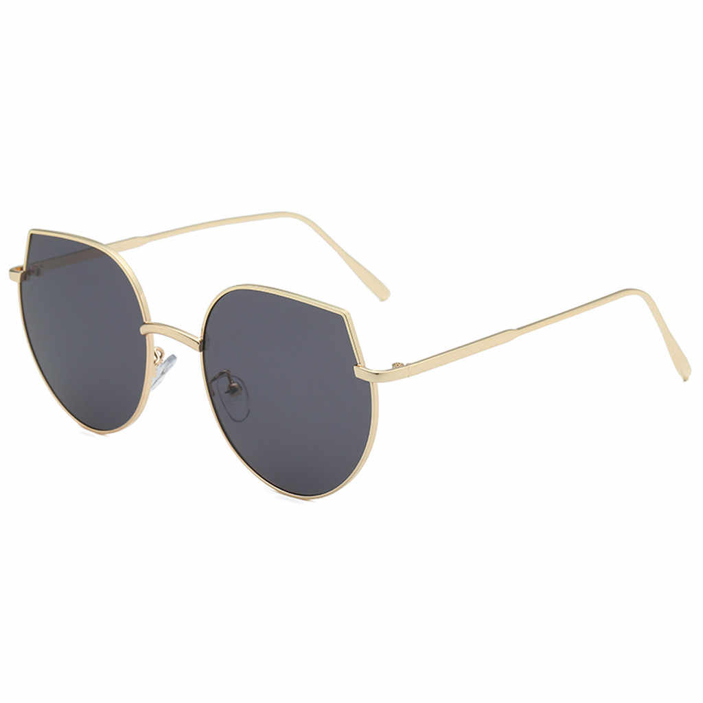 Солнцезащитные очки Модные мужские женские неправильной формы винтажные Ретро