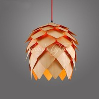 Denmark Antique Pinecone PH Artichoke Oak Wooden Pineal Modern Creative Handmade Wood LED Hanging Chandelier Lamp Lighting Light