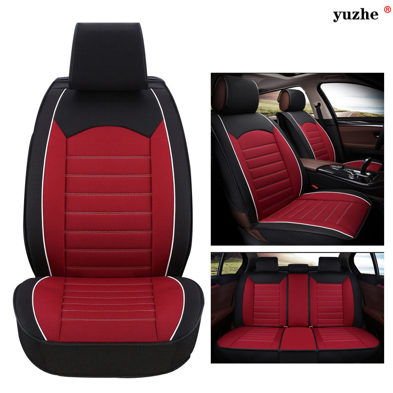 Yuzhe Linen car seat cover For Land Rover Discovery Sport freelander Range Sport Evoque Defender car accessories styling cushion
