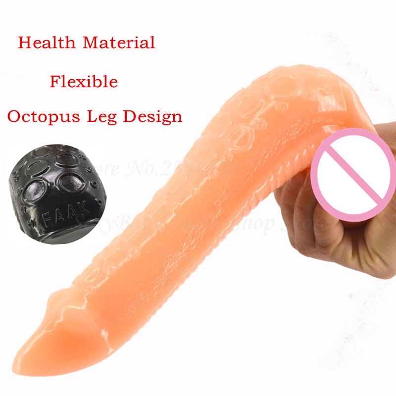 New Big Octopus Leg Design <font><b>Animal</b></font> <font><b>Dildos</b></font> Anal Massager Flexible Fake <font><b>Penis</b></font> Insert <font><b>Sex</b></font> Products Anal <font><b>Dildo</b></font> <font><b>Sex</b></font> <font><b>Toys</b></font> For Women Men image