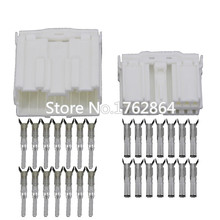5 Sets 14 Pin white plastic hood car connector  with terminal DJ7142Y-2-11 / 21 14P