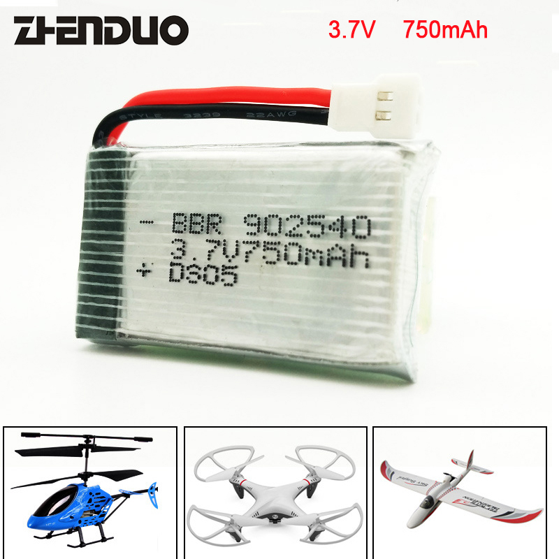 ZhenDuo Jouets Batterie 3.7 v 750 mah Pour Mini RH SH5HD Super Grand RC Quadcopter Drone