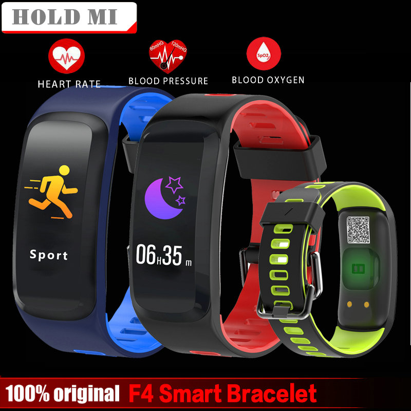 Hold Mi No.1 F4 Color Screen Smart Bracelet Blood Pressure Blood Oxygen Heart Rate Monitor Smart band For IOS/Android