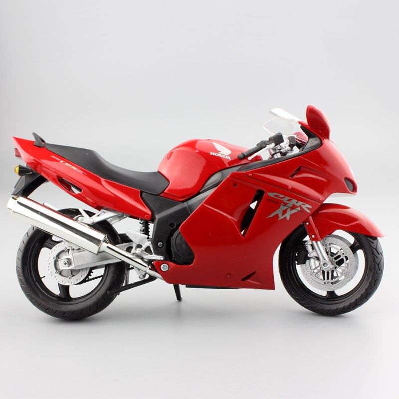 1:12 Scale Automaxx Kids Motorcycle Honda CBR 1100XX CBR1100XX Sport Super Blackbird Diecast Motor Bike Models Race Toy Vehicles