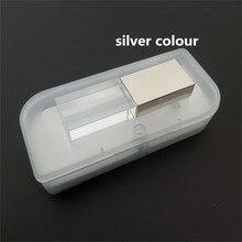 Hot sale Transparent glass usb 2.0 custom logo led light crystal usb flash drive pen drive 4GB 8GB 16GB 32GB