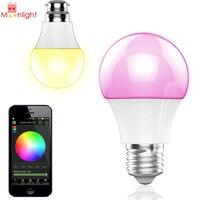4.5 Wát E27 RGBW Bluetooth Thông Minh LED Light Bulb Bluetooth 4.0 Thông Minh Đèn Chiếu Sáng Wireless LED Light Bulb Sự Thay Đổi Màu Dimmable