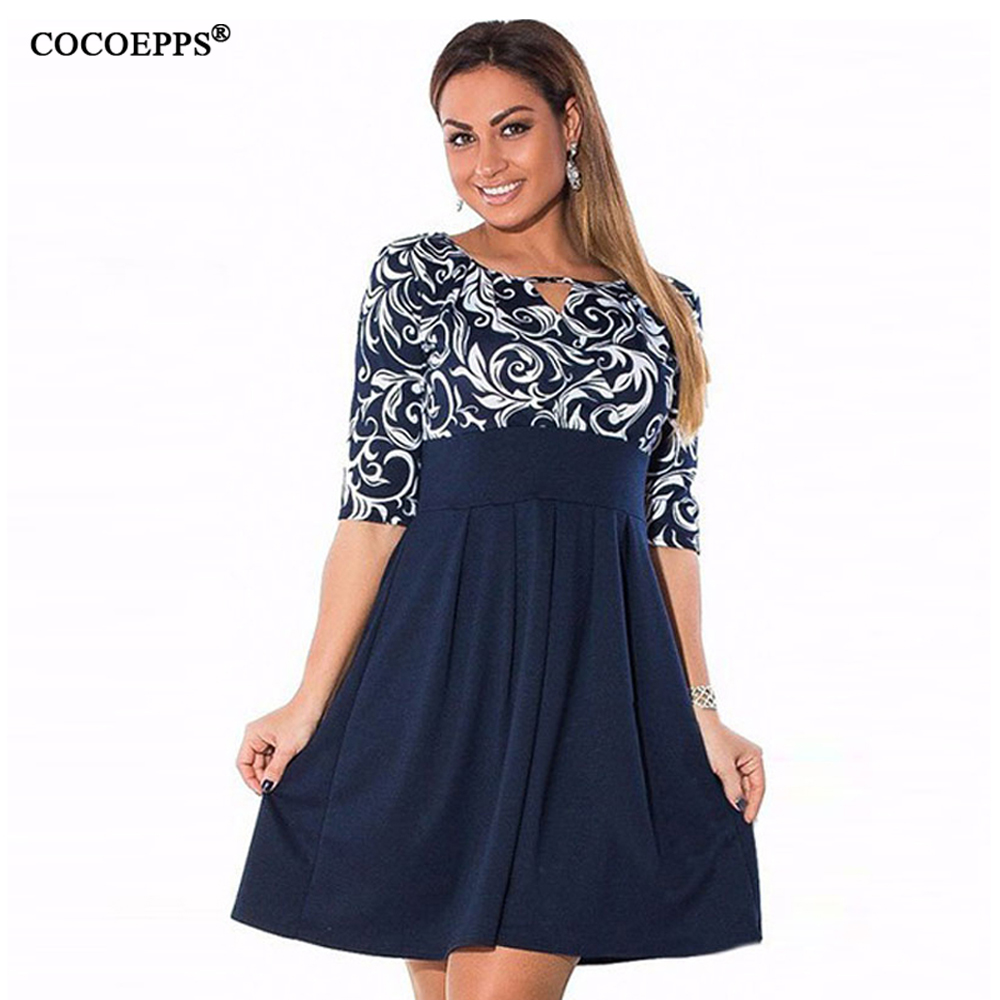 large size 6xl summer dress 2019 plus size midi dress