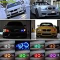 4 UNID Super Bright LED Angel Eyes Faros de Halo de luz 42 RGB 5050 SMD Control Remoto Inalámbrico Kit de Los Ojos Del Ángel Para BMW E36 E38 E39 E43 E46