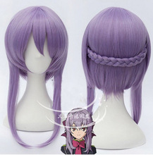 Hiiragi Shinoa hair accessories purple synthetic straight hair jewelry extension for Seraph of the end cosplay wigs