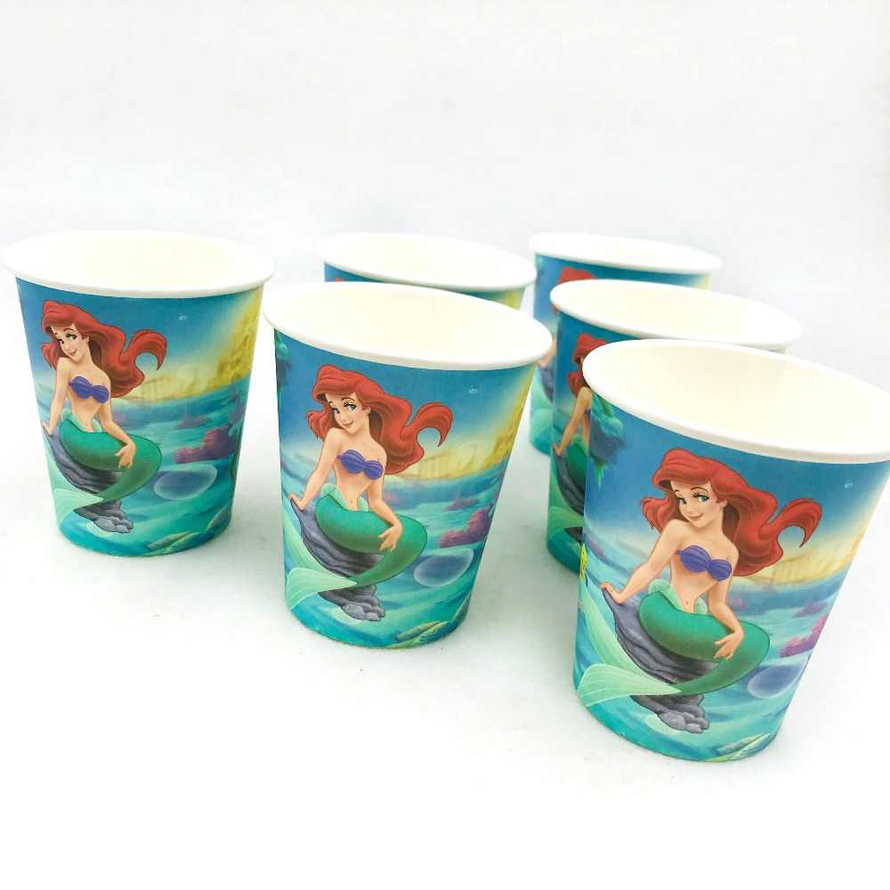 Little Mermaid Theme Party Supplies Decorations Favors kids Disposable Tablecloth Cup Plate Napkin Gifts Baby Shower Adult gift