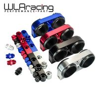 WLR RACING - Twin Fuel Pump Bracket Billet Aluminium Assembly OUTLET Manifold In Black for 044 fuel pump W/O Logo WLR-LD2642