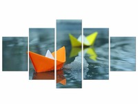 5 Pieces Free Shipping Decoration Abstract Thousands of paper cranes Wall Art Canvas Painting Posters Home Living Room Framed