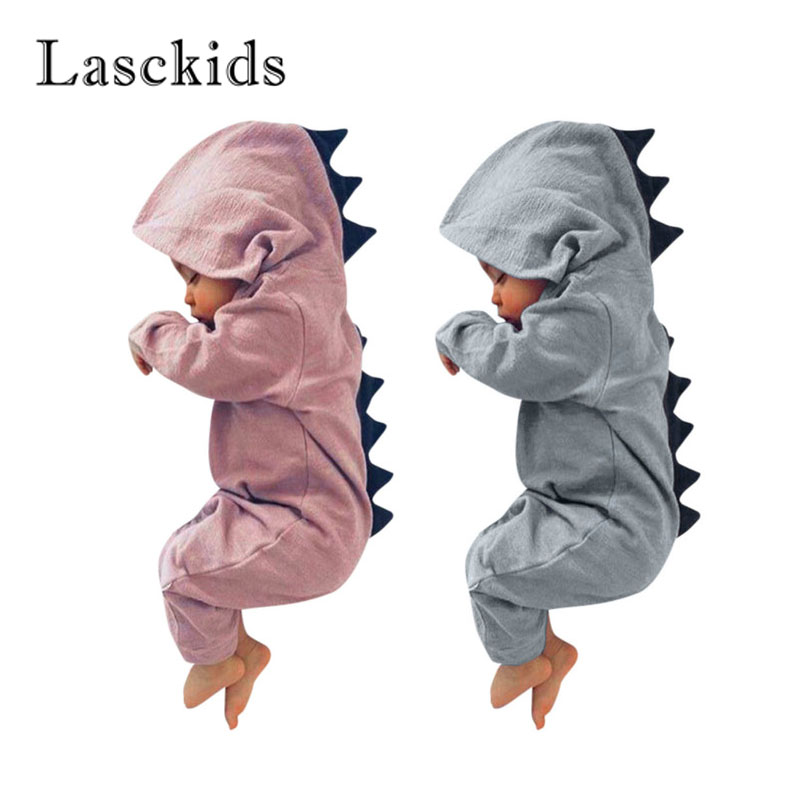 Lasckids Dinosaur Baby Clothes Bebe Romper Hoody Long Sleeve Cotton Baby Boy Jumpsuit Cute Girl Overalls Baby Clothing Outfits