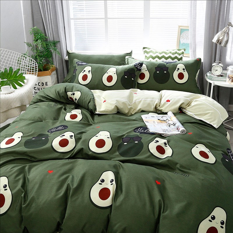 Image 3 - Solstice Cotton Pastoral Flower Cartoon Style Fashion Bedding Bed  Linen Bed Sheet Duvet Cover Pillowcase 4pcs Bedding Sets/Queen4pcs  bedding setbedding fashionfashion bedding