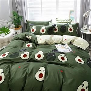 Image 3 - Solstice Cotton Pastoral Flower Cartoon Style Fashion Bedding Bed Linen Bed Sheet Duvet Cover Pillowcase 4pcs Bedding Sets/Queen