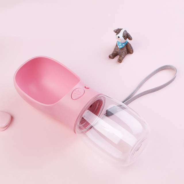 350ML/550ML Portable Pet Dog Water Bottle Travel Dog Bowl Cups Dogs Cats Feeding Water Outdoor For Puppy Cat Pets Products 3