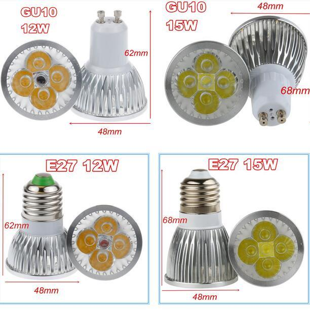 Free shipping high power gu10 15w cree led bulb light lamp 12w 9w free shipping high power gu10 15w cree led bulb light lamp 12w 9w mr16 e27 spotlight track lighting downlight 12v 110v 220v in led bulbs tubes from lights aloadofball Image collections