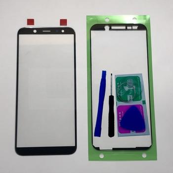 Для Samsung Galaxy A6 2018 A600 A600F A6 Plus A6 + A605F A605 Оригинальный сенсорный ЖК-экран передняя внешняя стеклянная панель объектива Замена
