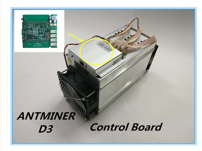 ANTMINER D3 Control Board New Control Board Include IO Board And BB Board For ANTMINER D3,FROM YUNHUI dashboard control board include io board and bb board bitcoin mining machine part for antminer l3 d repair parts