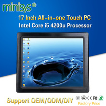 Minisys 17 Inch Wall Mounted All In One Computer Intel i5 4200u Dual Core Resist