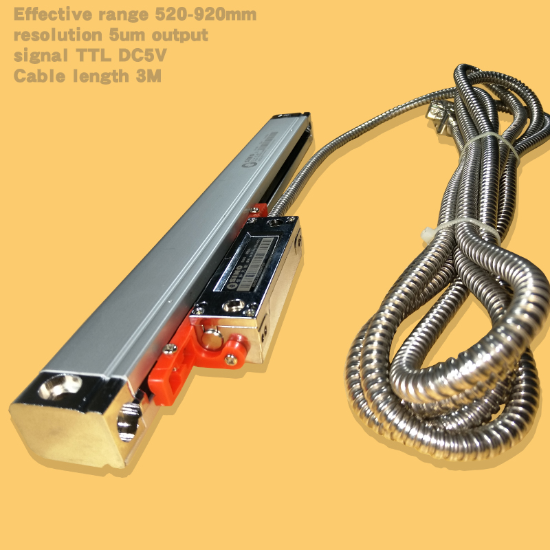 Sino-ka300 high precision linear encoder grating ruler, resolution 5um glass optical ruler machine tool digital display цена