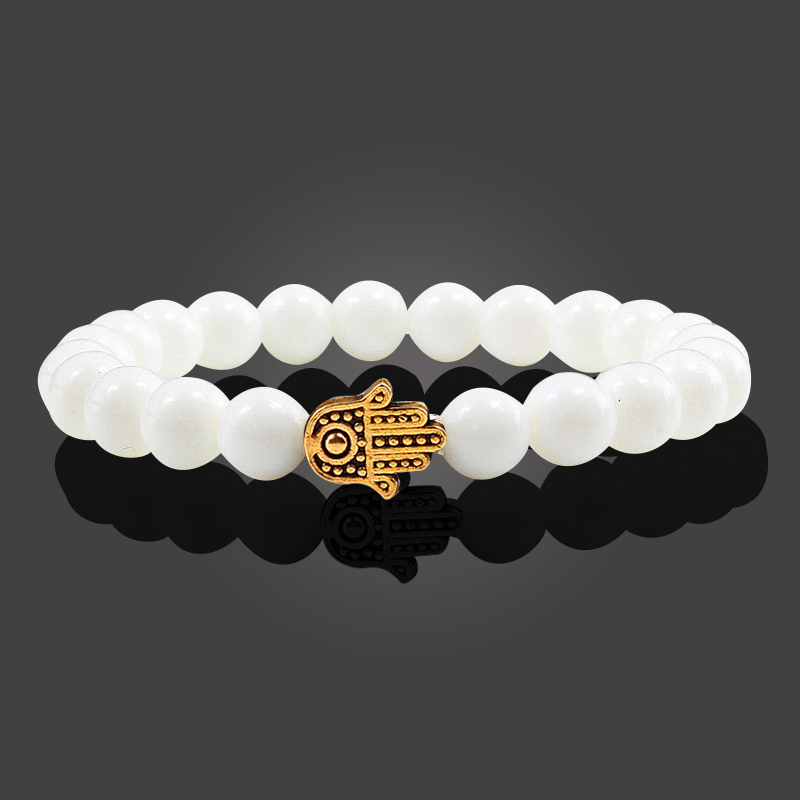 Charms Men Black Lava Matte Beads Natural Volcanic Stone Bracelets Bangles Women Yoga Prayer Jewelry Gold Sliver Hand Bracelet 3