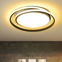 Round Modern Led Ceiling Lights For Living room Bedroom Fixture remote controller+Dimmable White or Black Ceiling Lamp