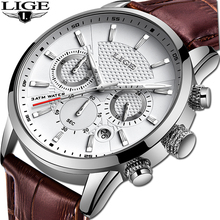 LIGE Luxury Brand Men Analog Leather Sports Watches Men's Army Military Watch Male Date Quartz Clock Relogio Masculino 2019 стоимость