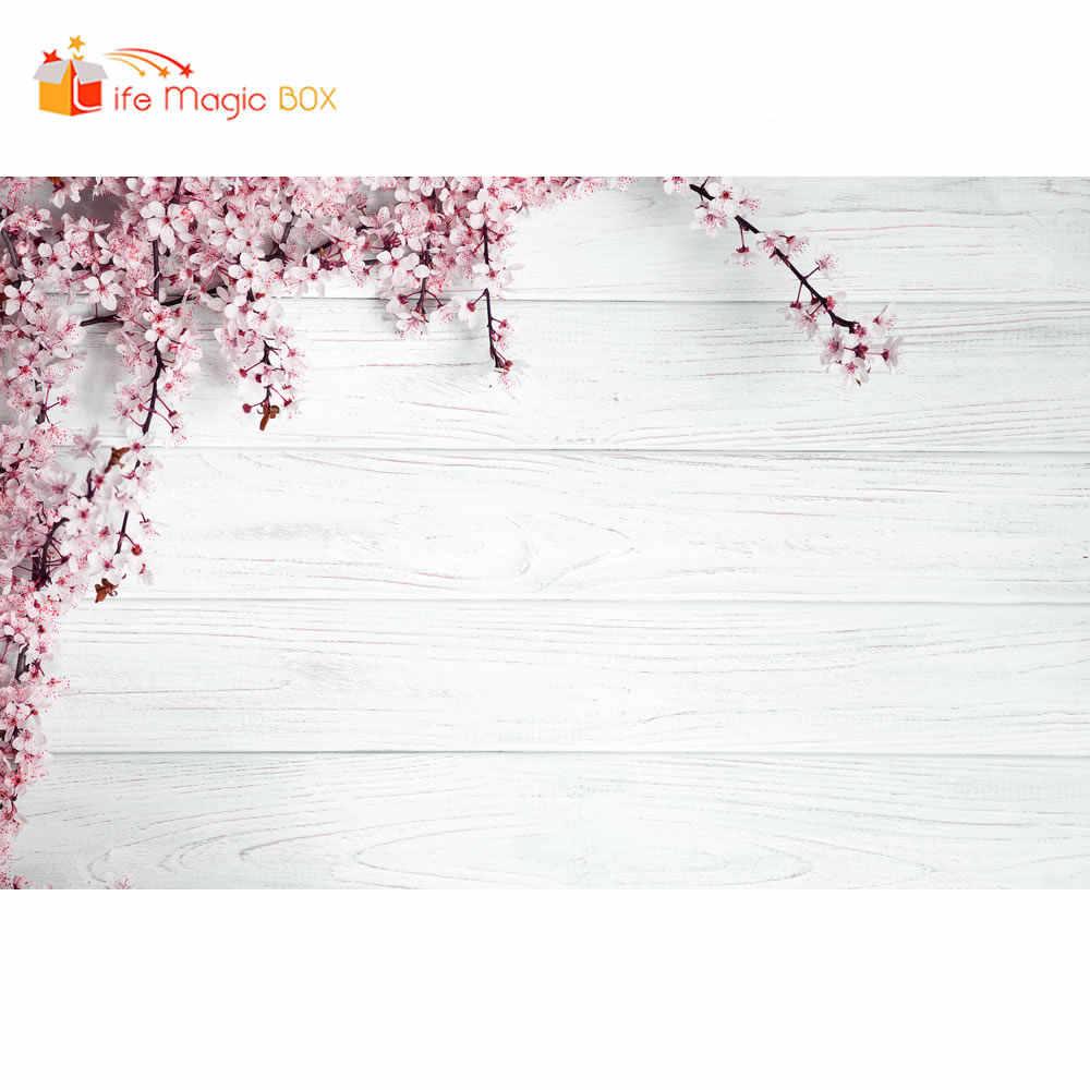 Жизнь Волшебная коробка фотосессия фон деревянная доска цветок белый фон Фотофон продукт ткань фотография