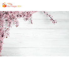 LIFE MAGIC BOX Photoshoot Background Wood Board Flower White Backdrops Photophone Product Cloth Photography(China)