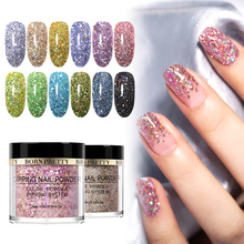 BORN PRETTY Dipping Nail Powder 2 IN 1 Holographic Polymer Acrylic Without Lamp Cure Carving Extension Art Decor