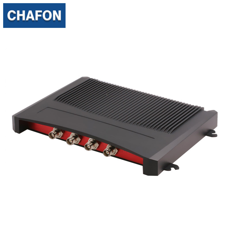 CHAFON 15M Impinj R2000 rfid fixed reader with 4 ports RS232 RS485 TCPIP USB uhf writer free sdk for warehouse management rfid uhf reader writer 902 928mhz 5 meter free sdk and software for car packing system and warehouse