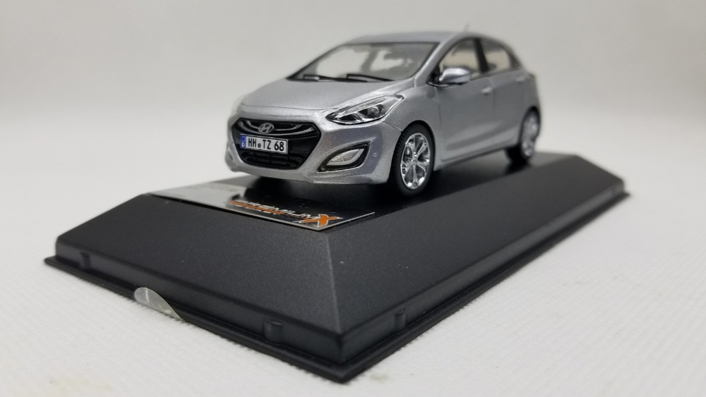 1:43 Diecast Model for Hyundai i30 Gray Alloy Toy Car Miniature Collection Gifts 1 43 diecast model for mitsubishi eclipse spyder blue alloy toy car miniature collection gifts