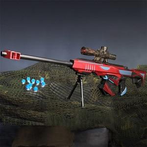 Image 3 - Plastic Infrared Water Bullet Gun Toy For Children Boys Sniper Rifle Pistol Soft Paintball Outdoor Toys Shooting Gun Kids Gifts