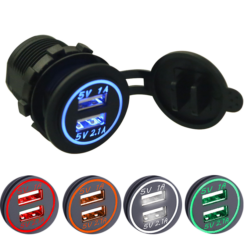 цены Waterproof Car Charger 12V-24V Universal Dual USB Car Charge Socket LED Digital Display Charging Socket For Iphone7