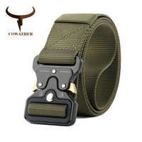 COWATHER luxury nylon belt newest men belts military outdoor tactical male waistband jeans belt for men casual nylon male strap