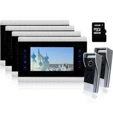 Homefong Electric lock Wired 7 Video font b Door b font Phone Intercom Monitor System Doorbell